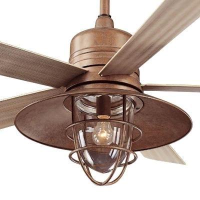 Hampton Bay Metro 54 In. Rustic Copper Indoor/outdoor Ceiling Fan In Newest Rustic Outdoor Ceiling Fans With Lights (Gallery 15 of 15)