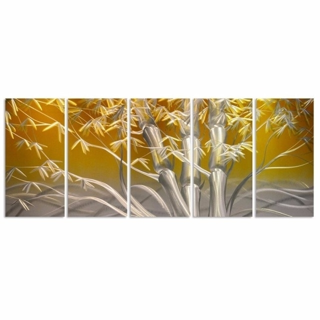 Handcraft Modern Aluminum Wall Art Painting Bamboo Metal Wall Art Within Most Popular Bamboo Metal Wall Art (Gallery 14 of 15)