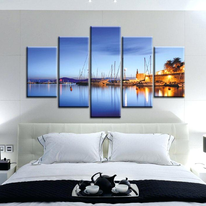 Handmade Original Horizontal Wall Art Abstract Canvas Painting Large Within Most Popular Horizontal Abstract Wall Art (View 14 of 15)