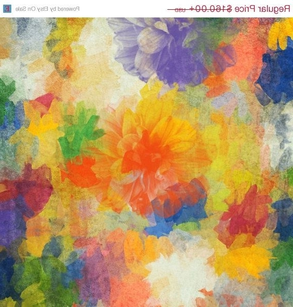 Happiness Abstract Wall Art Pertaining To Popular Air Of Happiness. Abstract Paintings Art, Wall Decor, Extra Large (Gallery 15 of 15)