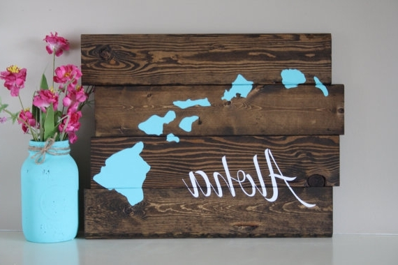 Hawaiian Wall Art Decor For Well Known Reclaimed Wood Wall Hawaiian Wall Decor Unique Cheap Wall Decor (View 3 of 15)