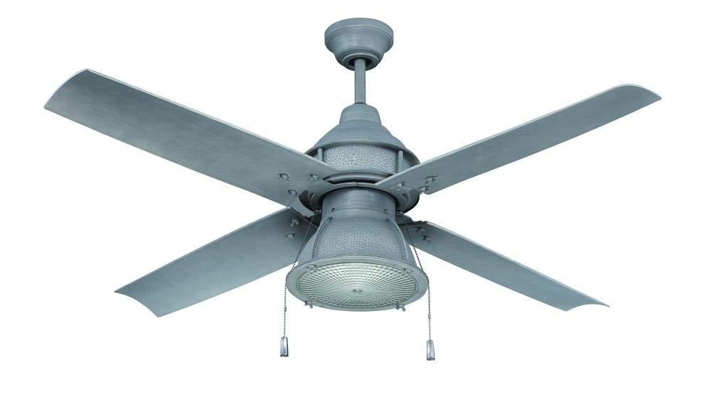 Heavy Duty Outdoor Ceiling Fans With Best And Newest Craftmade Par52Esp4 Port Arbor, Espresso 52 Inch Outdoor 4 Blade (Gallery 14 of 15)