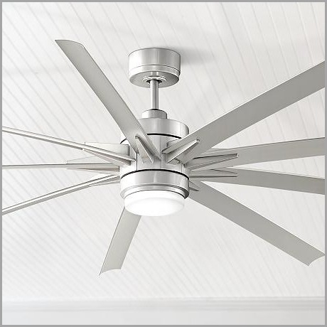 High Output Outdoor Ceiling Fans » Purchase 84 Odyn Brushed Nickel With Trendy High Output Outdoor Ceiling Fans (View 15 of 15)