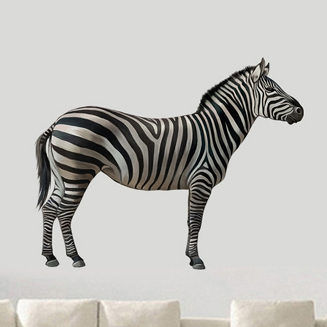 High Quality Zebra 3D Wall Stickers Animals Pvc Wall Decals/adhesive Pertaining To Most Recently Released Zebra 3D Wall Art (Gallery 1 of 15)