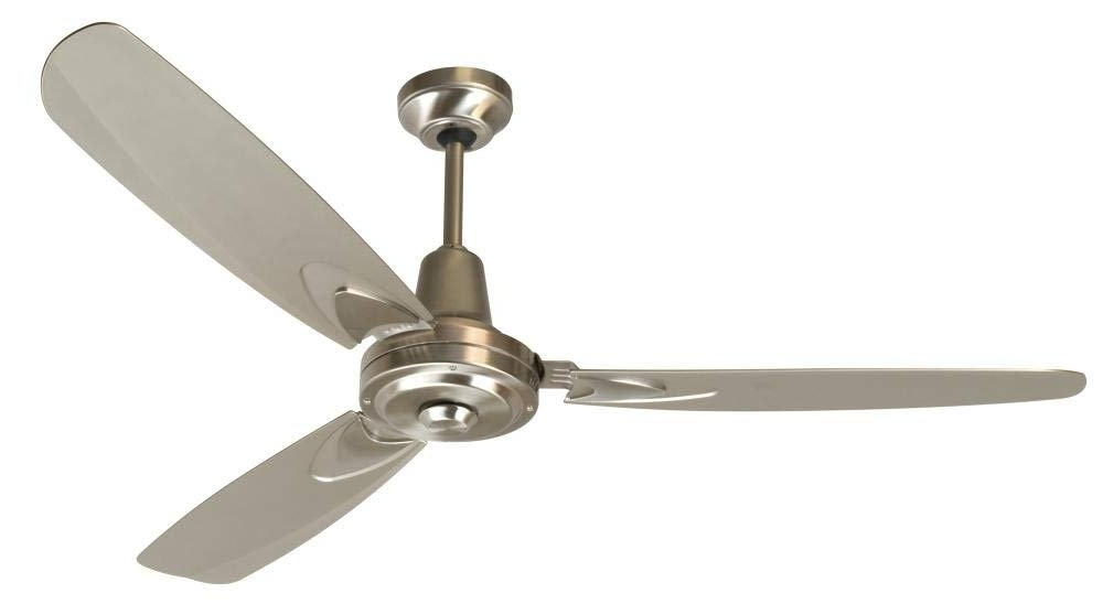 High Volume Outdoor Ceiling Fans Pertaining To 2018 Craftmade 3 Blade Ceiling Fan Without Light Ve58Bnk3 Velocity (View 14 of 15)