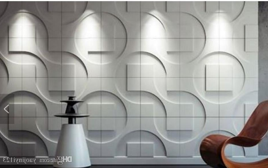 Home Deco 3D Pvc Wall Panels Wall Panel Wall Sticker Wall Paper Pertaining To Fashionable 3D Plastic Wall Panels (View 2 of 15)