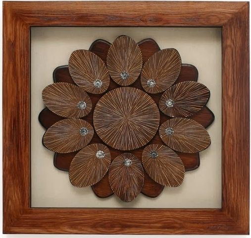 Home Decor: Handcrafted Decor Box Frame 3D Wall Art For Home Decoration With Most Current Framed 3D Wall Art (Gallery 7 of 15)