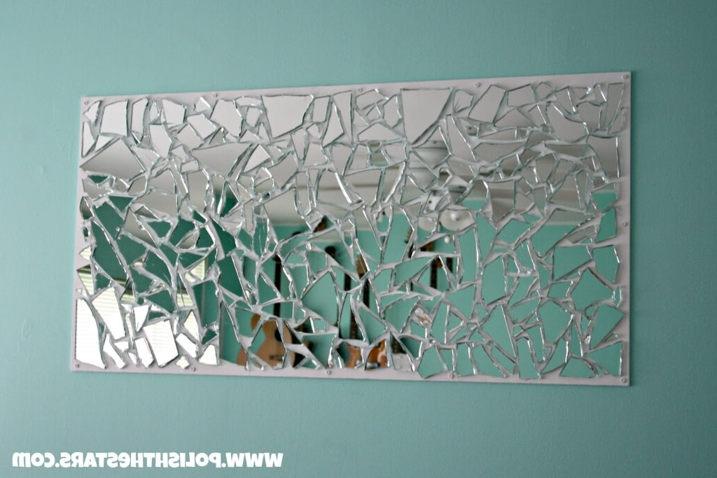 Home Decoration: Art Deco Compact Mirror With Scattered Mirror Art Throughout Trendy Wall Art Mirrors Contemporary (View 12 of 15)