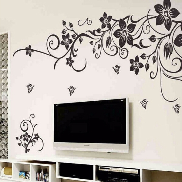Home Depot Wall Decals Diy Wall Art Decal Decoration Fashion Regarding Well Known Wall Art Deco Decals (View 3 of 15)