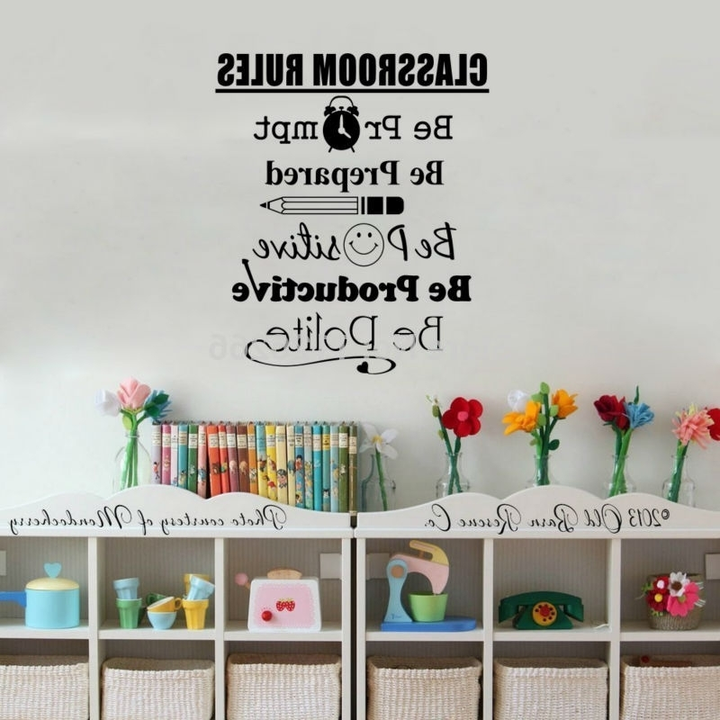 Home & Garden :: Home Decor :: Wall Stickers :: Student Quotes Wall Regarding Newest Classroom Vinyl Wall Art (View 4 of 15)