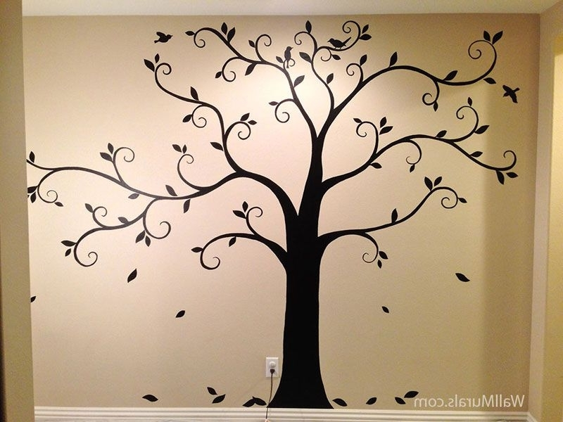 Home Intended For Painted Trees Wall Art (View 2 of 15)