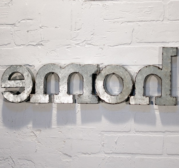 Home Letters Antique Farmhouse throughout Preferred Metal Word Wall Art