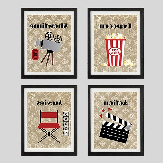 Home Theater Wall Art In Current Home Theater Wall Decor New Movie Prints Home Theater Decor Wall Art (Gallery 5 of 15)
