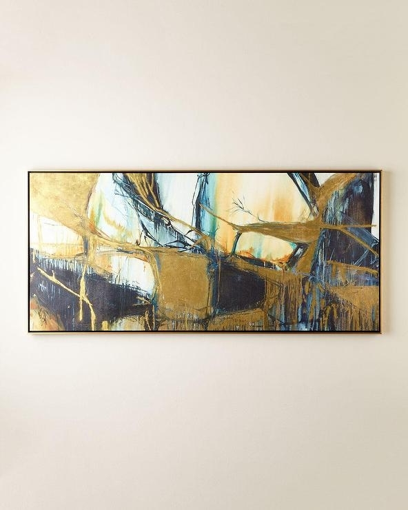 Horizontal Abstract Wall Art For Recent Abstract Horizontal Brush Stroke Art – Products, Bookmarks, Design (Gallery 9 of 15)