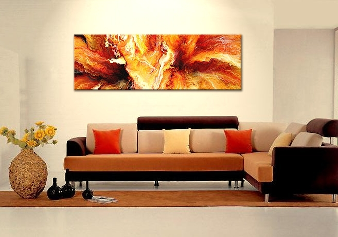 Horizontal Abstract Wall Art Within Well Known Wall Art Designs: Best Horizontal Canvas Wall Art Abstract Large (Gallery 7 of 15)