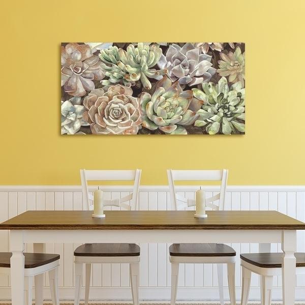 Horizontal Canvas Wall Art Intended For Preferred Shop Portfolio Canvas Decor Desert Garden Horizontal Panel Canvas (View 6 of 15)