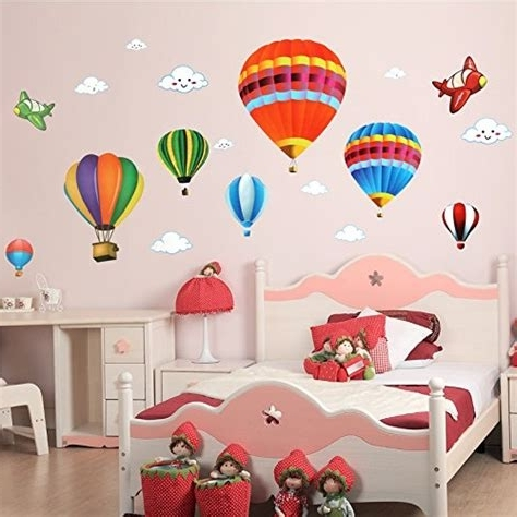 Hot Air Balloon 3D Paper Wall Art/wall Decor, Hot Wall Decor Intended For Fashionable Air Balloon 3D Wall Art (View 10 of 15)
