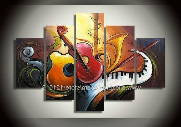 Hot High Quality Abstract Art Music Theme Wall Decoration Group Within Most Recent Music Theme Wall Art (View 2 of 15)