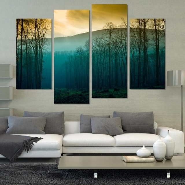 Hot Sale! Modern Abstract Huge Wall Art Painting On Canvas ,sunrise Intended For Trendy Modern Abstract Huge Wall Art (Gallery 7 of 15)