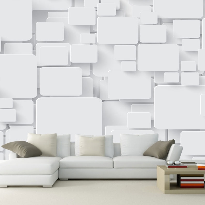 Hot Sale Wallpaper Mural Cubes Abstract 3D Wall Paper Non-Woven For within Most Up-to-Date Cubes 3D Wall Art