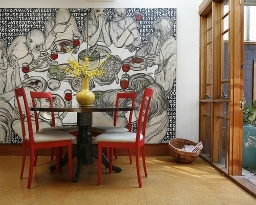 Houzz Abstract Wall Art Pertaining To Latest Cool Art For Dining Room Design Dining Room Wall Art Design Ideas (Gallery 7 of 15)