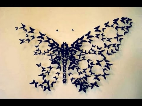 How To Cut Paper With Diy 3D Wall Art Butterflies (View 8 of 15)
