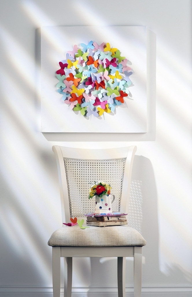 How To Make Butterfly Canvas Wall Art – Hobbycraft Blog Throughout Most Recent Butterfly Canvas Wall Art (View 11 of 15)