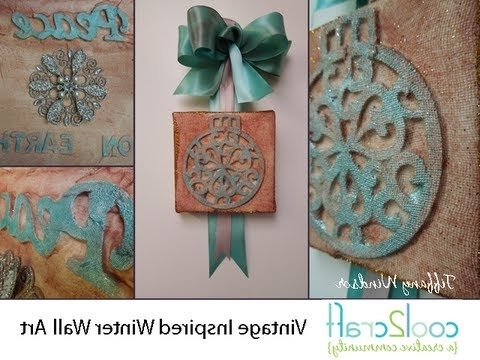 How To Make Vintage Inspired Winter Wall Arttiffany Windsor In Most Recently Released Vintage Style Wall Art (Gallery 12 of 15)