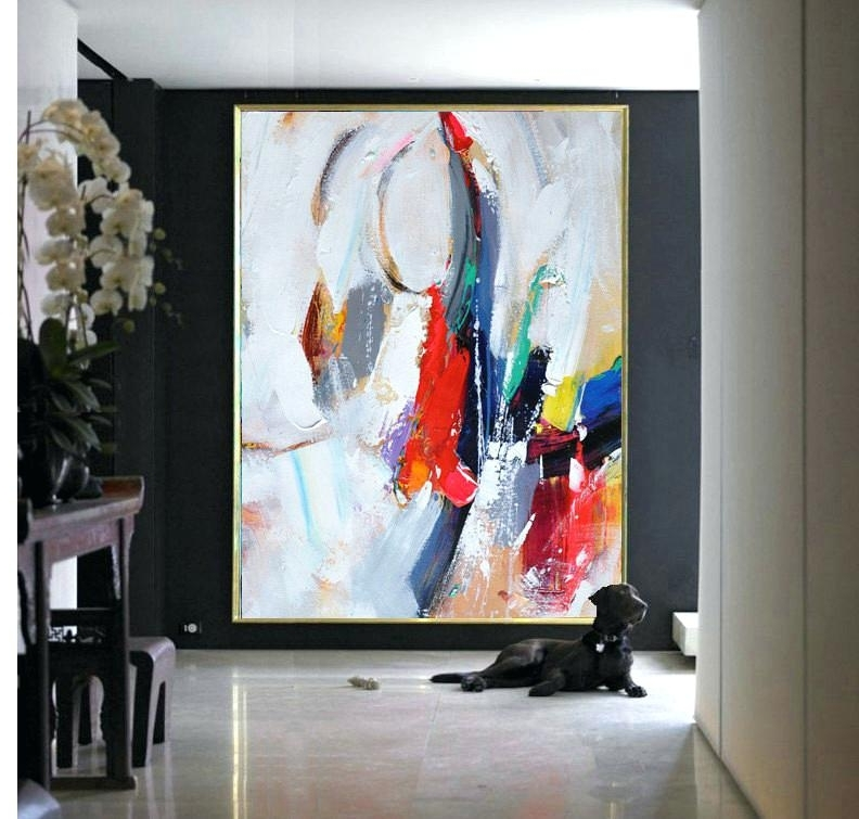 Huge Abstract Wall Art Inside 2017 Abstract Canvas Art Handmade Extra Large Contemporary Painting Huge (Gallery 12 of 15)