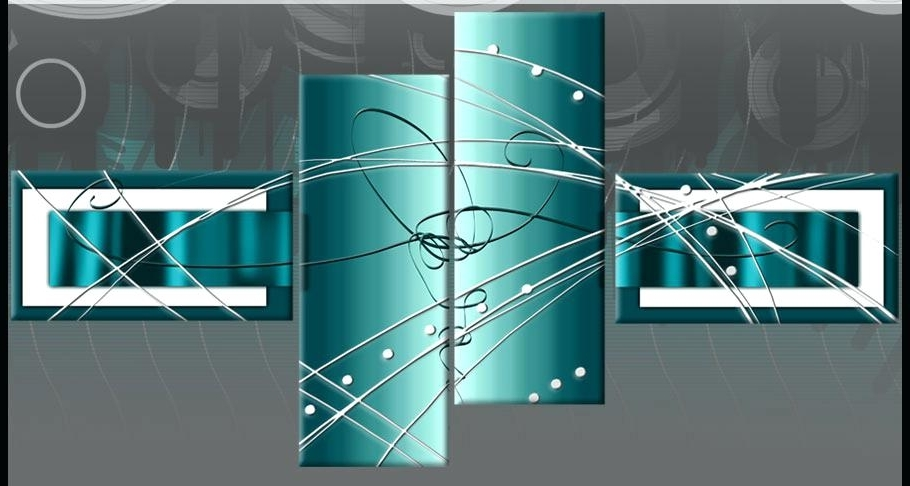 Huge Teal Brown Contemporary Abstract Square Wood Metal Wall Pertaining To Well Liked Large Teal Wall Art (View 4 of 15)