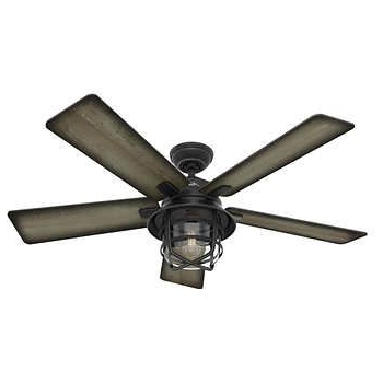 "Hunter 54"" Coral Gables Indoor/outdoor Fan. Costco, $140. Bought Intended For Trendy Hunter Outdoor Ceiling Fans With Lights (Gallery 14 of 15)"