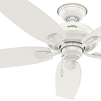 """Hunter Fan 52"""" Indoor/outdoor Ceiling Fan In Fresh White, 5 Blade Pertaining To Latest Rust Proof Outdoor Ceiling Fans (View 14 of 15)"""