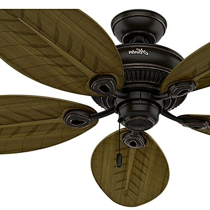 Hunter Fan 54 In. Indoor/outdoor Ceiling Fan Without Light In Onyx Pertaining To Most Up To Date Hunter Indoor Outdoor Ceiling Fans With Lights (Gallery 14 of 15)