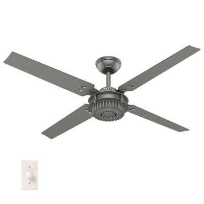 Hunter – Industrial – Outdoor – Ceiling Fans – Lighting – The Home Depot Throughout Trendy Industrial Outdoor Ceiling Fans (View 5 of 15)