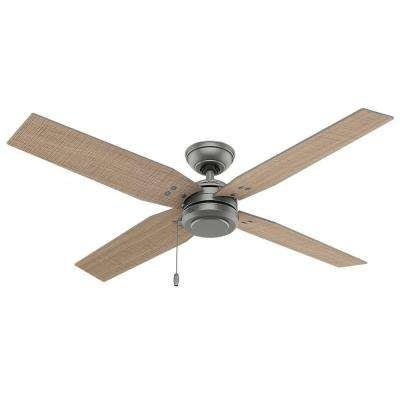 Hunter – Outdoor – Ceiling Fans – Lighting – The Home Depot Pertaining To Well Known Outdoor Ceiling Fan No Electricity (Gallery 4 of 15)
