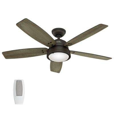 Hunter – Outdoor – Ceiling Fans – Lighting – The Home Depot Regarding Trendy Hunter Outdoor Ceiling Fans With Lights (Gallery 1 of 15)