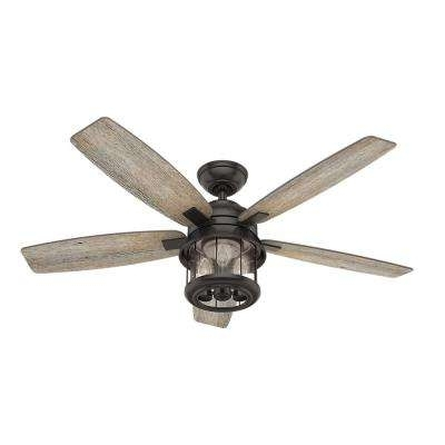 Hunter Outdoor Ceiling Fans With Lights And Remote With Regard To Well Known Hunter – Remote Control Included – Outdoor – Ceiling Fans – Lighting (Gallery 3 of 15)
