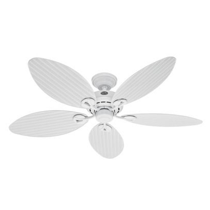 Hunter Outdoor Ceiling Fans With White Lights Within Well Liked Hunter Fan Bayview Outdoor Ceiling Fan, White (Gallery 9 of 15)