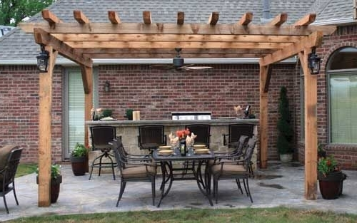 I Like The Lighting And Ceiling Fan This Pergola Has (View 2 of 15)