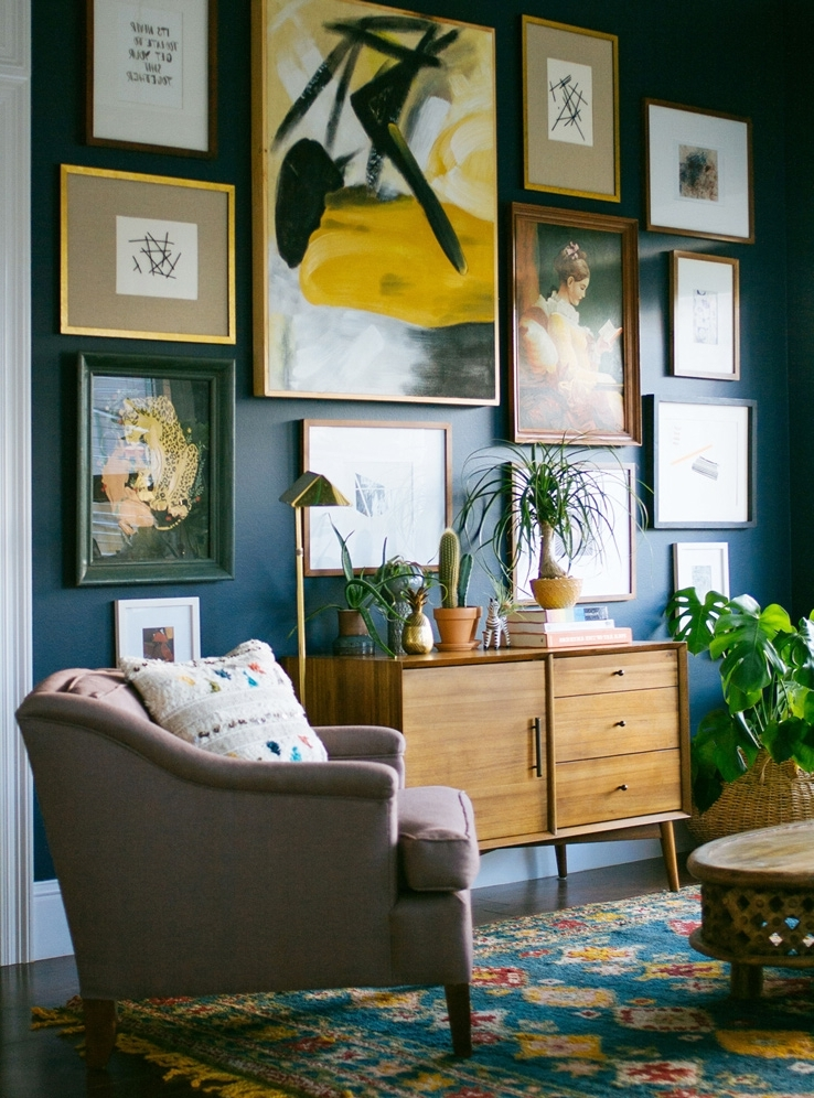 I Want That Wall! 5 Easy Steps To Hanging Art - Front + Main within Newest West Elm Abstract Wall Art