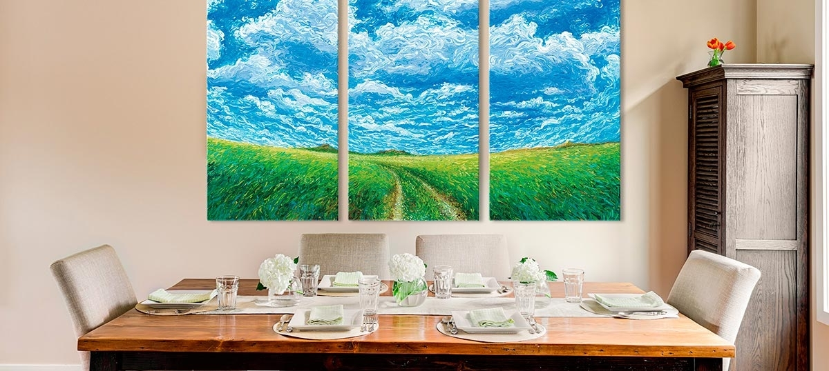 Icanvas with Widely used Blue And Green Wall Art