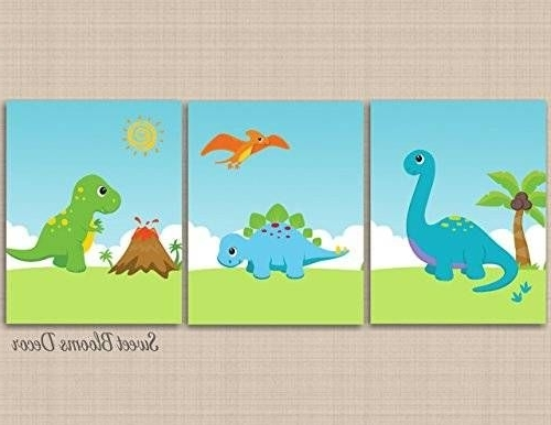 Image Result For Handmade Dinosaur Canvas Wall Art (Gallery 4 of 15)