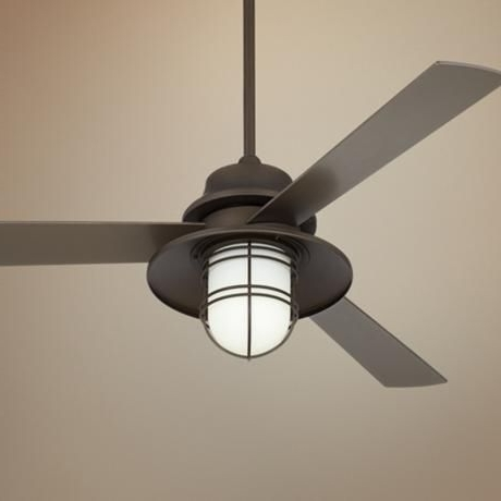 Industrial Outdoor Ceiling Fan With Light (Gallery 2 of 15)