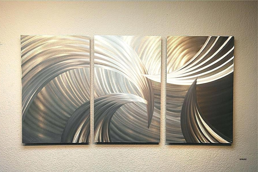Inexpensive Abstract Metal Wall Art With Well Known Inexpensive Metal Wall Art Hand Painted High Quality Modern Palette (Gallery 8 of 15)