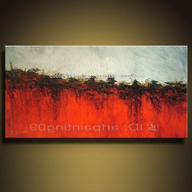 Inexpensive Abstract Wall Art Pertaining To Preferred Modern Abstract Landscape Oil Paintings Art Deco Cheap Abstract Art (View 2 of 15)