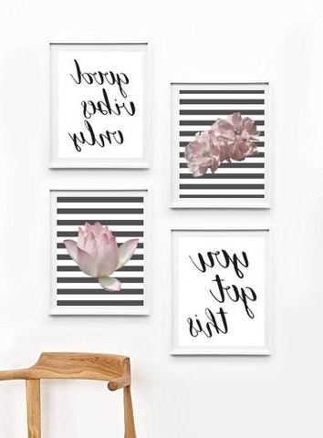 Inspirational Sayings Wall Art in Latest Ecstatic Inspirational Quotes Wall Art