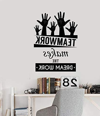 Inspirational Wall Decals For Office with Most Recently Released Amazon: N.sunforest Office Inspirational Words Wall Decal