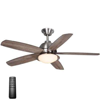 Integrated – Flush Mount – Outdoor – Ceiling Fans – Lighting – The Intended For Widely Used Flush Mount Outdoor Ceiling Fans (Gallery 10 of 15)