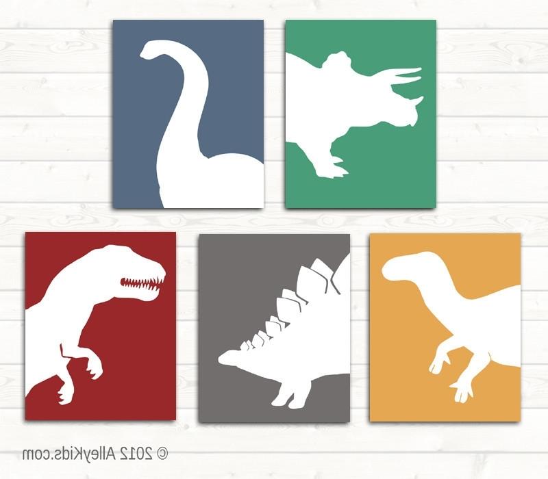 Interior. Dinosaur Wall Art: Dinosaur Wall Art Perfect Decoration For Favorite Dinosaur Wall Art For Kids (Gallery 11 of 15)
