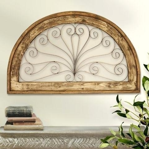 Iron Gate Wall Art Within Fashionable Wall Gate Decor Arched Window Window Wall Grille Iron Gate Decor (View 12 of 15)